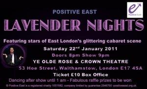 Flyer for Lavender Nights cabaret