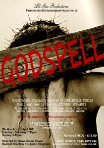 Flyer for Godspell