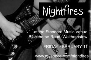 Nightfires gig flyer