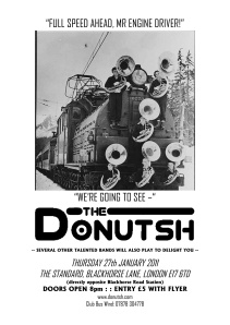 Flyer for The Donutsch gig