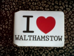 I Heart Walthamstow Oyster card holder