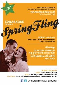 Spring Fling flyer
