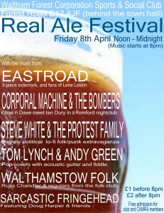 Real Ale Festival flyer